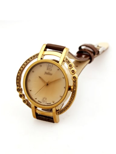 Model No A000471W-004 Women 's Wine Women's Watch Japanese Quartz Round with 24-27.5mm