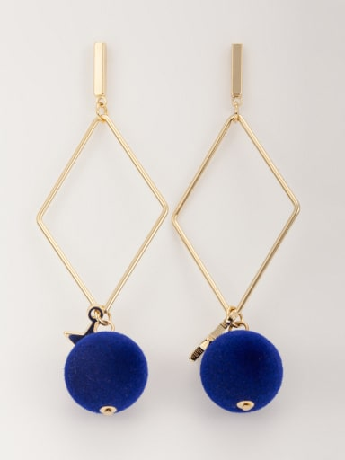 Mother's Initial Navy Drop drop Earring with Star Beads