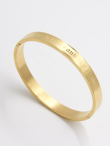 The new  Stainless steel   Bangle with Gold     63MMX55MM