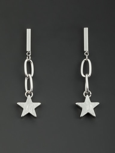 The new Platinum Plated Star Drop drop Earring