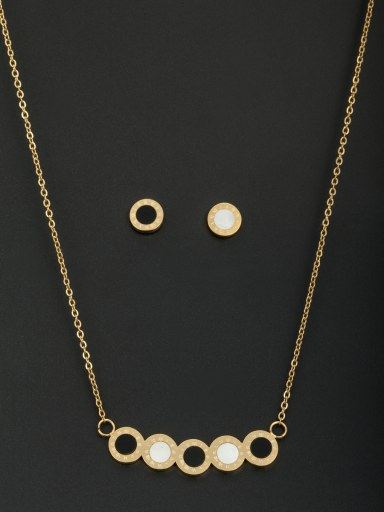 Gold Round 2 Pieces Set with Stainless steel
