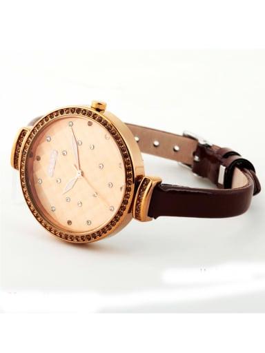 Model No 1000003309 Women 's Brown Women's Watch Japanese Quartz Round with 24-27.5mm