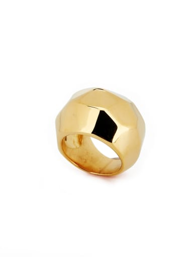 Gold color Gold Plated Titanium Geometric Band band ring