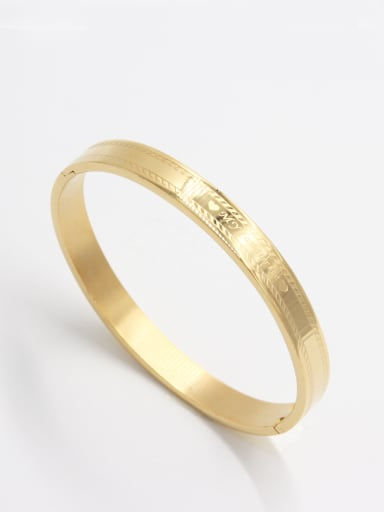 Stainless steel  Gold  Beautiful Bangle    63MMX55MM