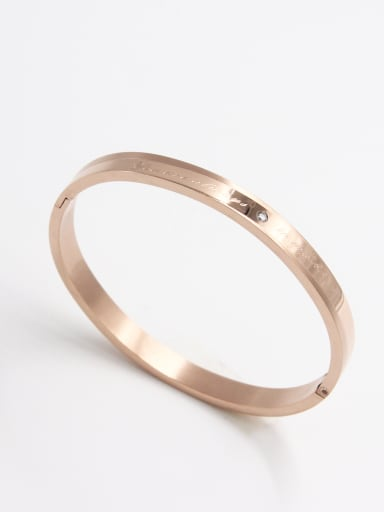 Custom Rose  Bangle with Stainless steel    59mmx50mm