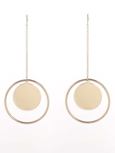 Model No 1000004205 Personalized Gold Plated Zinc Alloy Gold Round Drop drop Earring