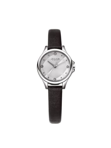 Model No A000459W-002 Women 's Black Women's Watch Japanese Quartz Round with 24-27.5mm