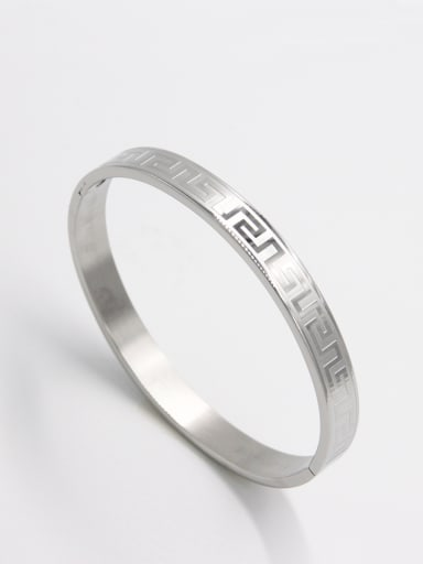 Stainless steel   White Bangle   63MMX55MM