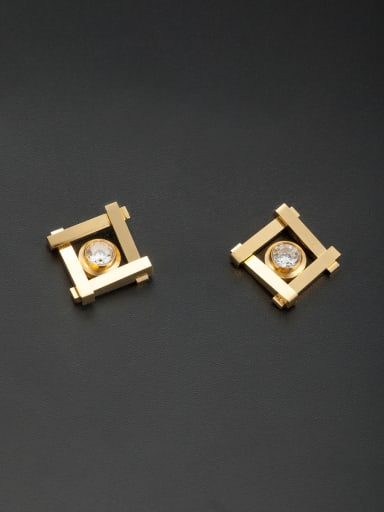 Custom Gold Round Studs stud Earring with Stainless steel