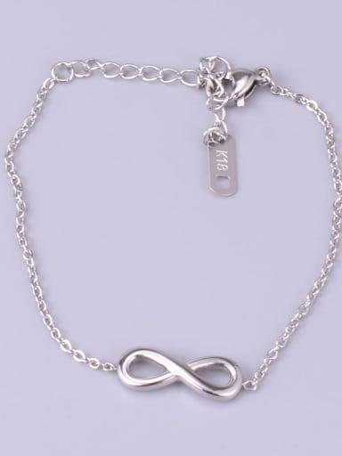 S05 Silver Bracelet Titanium Hollow NO  8  Bracelet