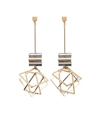 Zinc Alloy Geometric Minimalist Drop Earring