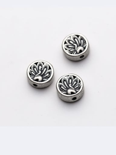 925 Sterling Silver With Peacock Screen Bead Handmade Diy Jewelry Accessories