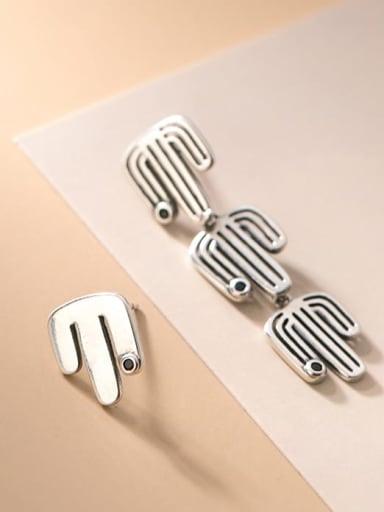 925 Sterling Silver Flower Vintage Stud Earring