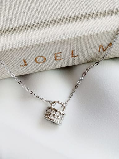 925 Sterling Silver Right Lock Necklace
