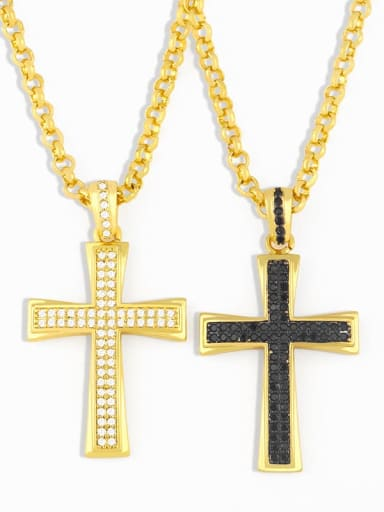 Copper Cubic Zirconia Cross Vintage Regligious  pendant