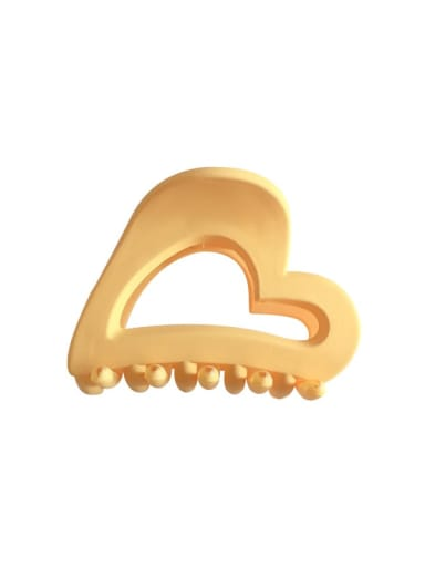 Cellulose Acetate Minimalist Hollow Heart Jaw Hair Claw