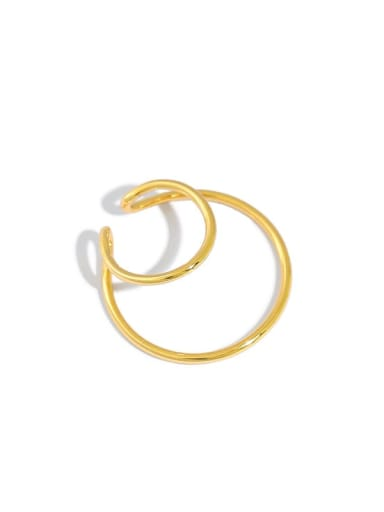 925 Sterling Silver Round Minimalist Stud Earring[Single]