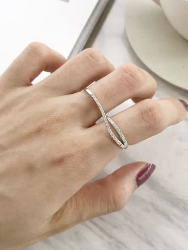 925 Sterling Silver Cubic Zirconia Combination Stackable Ring
