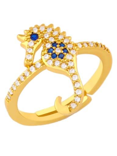 Brass Cubic Zirconia Bird Dainty Band Ring