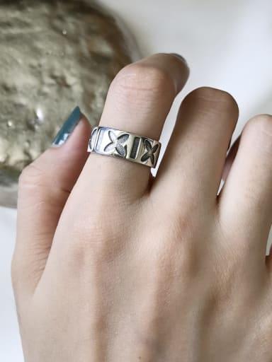 925 Sterling Silver Letter Artisan Signet Ring