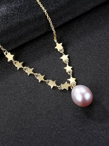 Purple 6G11 925 Sterling Silver Freshwater Pearl Multi Color Necklace