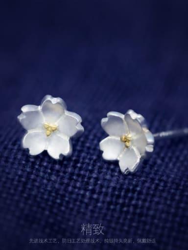 ear nail 925 Sterling Silver Flower Minimalist Necklace