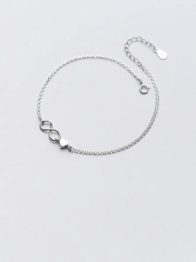 925 Sterling Silver Minimalist Number  8   Anklet