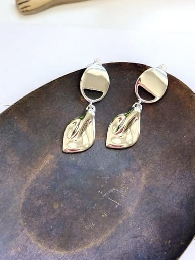 925 Sterling Silver Irregular Statement Unique  Drop Earring
