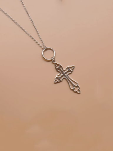 925 Sterling Silver Cross Minimalist Regligious Necklace