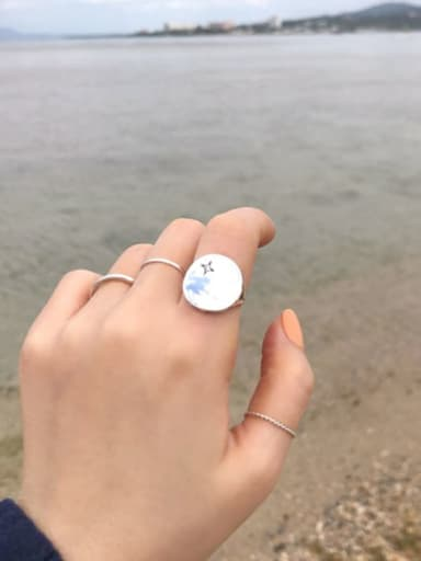 925 Sterling Silver Smooth Round Minimalist Midi Ring
