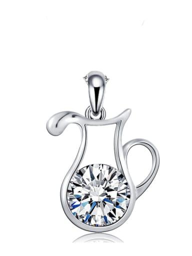 925 Sterling Silver Rhinestone  Minimalist Constellation Aquarius  Pendant
