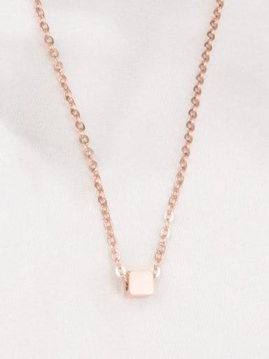 Titanium Smooth  Square  Necklace