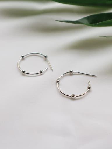 925 Sterling Silver Geometric Minimalist Hoop Earring