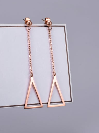 Titanium Hollow Triangle Minimalist Drop Earring