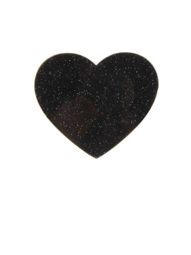 3#black Zinc Alloy Heart Minimalist Barrettes & Clips
