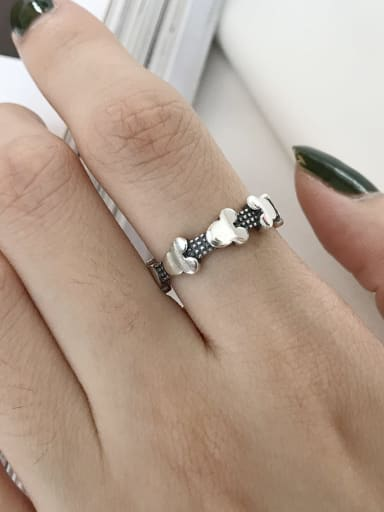 925 Sterling Silver Mouse Cute Midi Ring