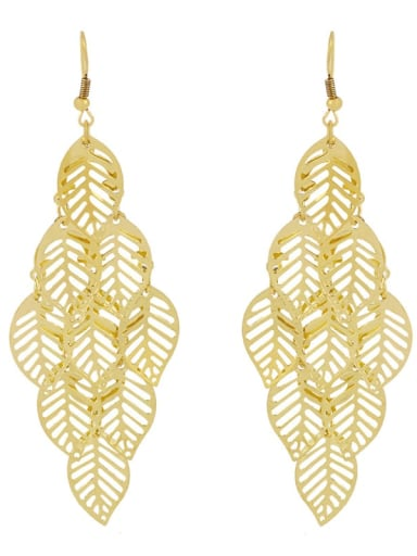 Alloy Leaf Vintage Hook Earring