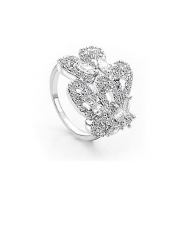 Copper Cubic Zirconia Irregular Luxury Ring