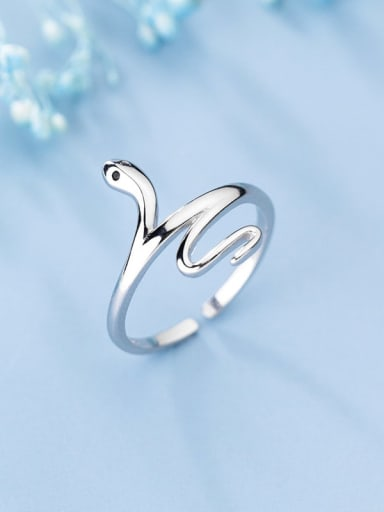 925 Sterling Silver Snake Minimalist  free size Ring