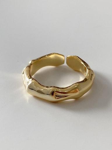 925 Sterling Silver Vintage  Irregular  Free Size Ring