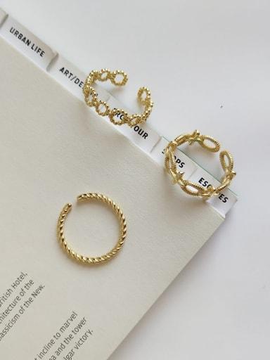 925 Sterling Silver Geometric Minimalist Midi Ring