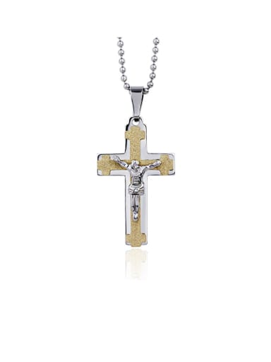 Titanium Cross Minimalist Regligious Necklace