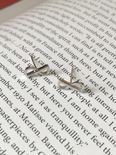 925 Sterling Silver Bowknot  Non Polar Minimalist Stud Earring
