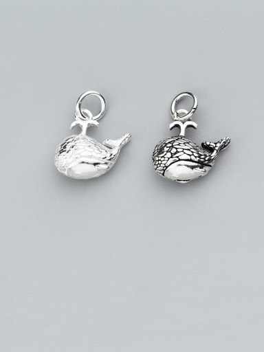 925 Sterling Silver With Personality Small Whale Pendant