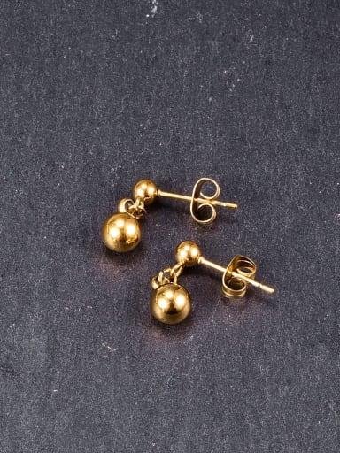 Titanium Bead Round Minimalist Drop Earring