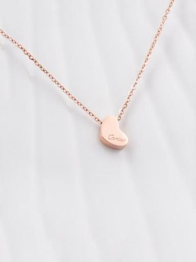 Titanium Heart Letter Necklace