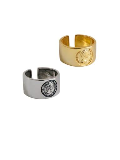 925 Sterling Silver Irregular Vintage Free Size Ring