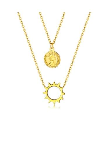 Titanium Irregular Minimalist Multi Sun Strand Necklaces