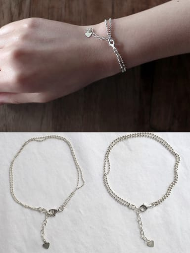 925 Sterling Silver Classic Beaded Bracelet