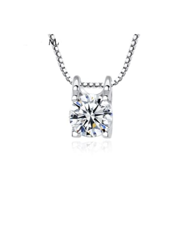 925 Sterling Silver  Fashion Simple Micro Inlay 3A Zircon Necklace
